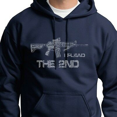 I Plead The 2nd Gun Rights the Right To Bear Assault Rifle Hoodie Sweatshirt