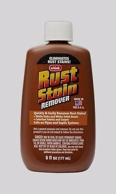 New!! WHINK Liquid Rust Stain Remover 6oz Removes From Fabrics White Bowls Sinks