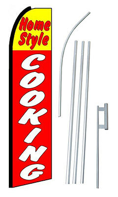 15 Ft. HOME STYLE COOKING Sign Swooper Banner Flag sw10156