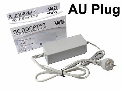 AC POWER SUPPLY / ADAPTOR / CABLE - - for Nintendo Wii - - Free Postage