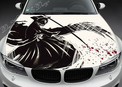 Anime Full Color Graphics Adhesive Vinyl Sticker Fit any Car Hood #063