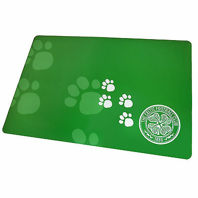 Celtic FC Official Football Gift Pet Dog Cat Feeding Mat Green