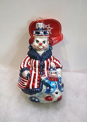 Slavic Treasures Ornament Out For A Stroll #02-609 Patriotic NIB (S6)
