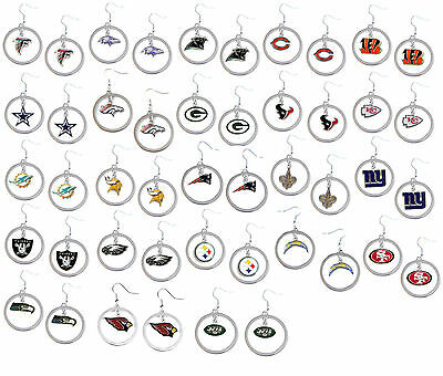 dangle hoop earrings NFL PICK YOUR TEAM