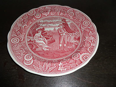 """SPODE ARCHIVE COLLECTION """"WOODMAN"""" GEORGIAN SERIES PINK Collector Dinner Plate"""