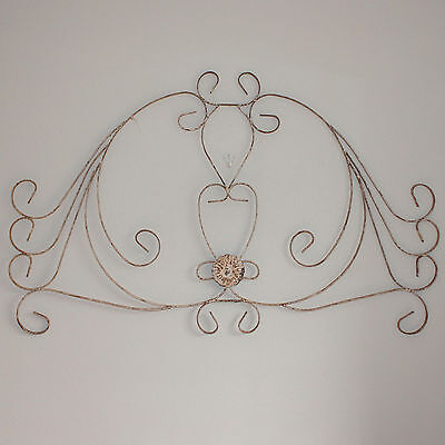 Wonderful antique French wall panel, distressed iron, architectural 3