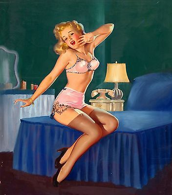 Vintage Pin Up Girls Retro Erotic Prints & Posters A1,A2,A3,A4 Sizes