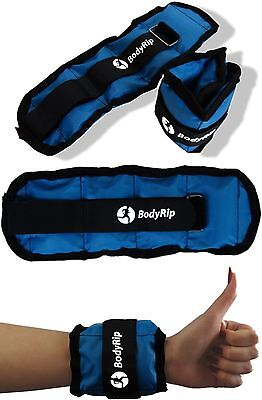 2 x WRIST ANKLE ADJUSTABLE WEIGHTS WRAPS STRAPS FITNESS GYM EXERCISE