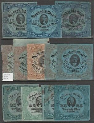 #REA37 // 43e (18) DIFFERENT 1878 USIR BEER STAMPS ISSUE CV $1,530.00 WL5527