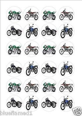 Motorbike Fairy cup cake decoration toppers x 24 on ICING