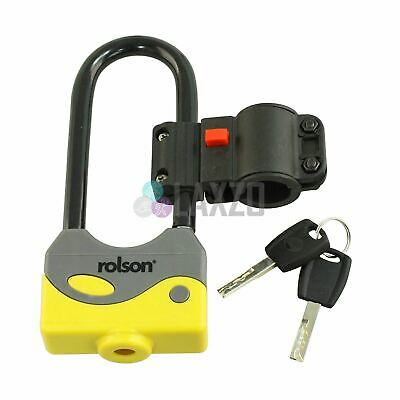 Rolson Pocket Size Shackle D/U Lock Heavyduty Steel ABS cover Bicycle Safety