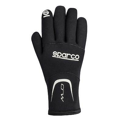 Sparco Black Crw Sealed Neoprene Gloves For Cold/Rain/Kart/Karting/Mechanics