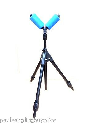 Fishing Small Pole Roller / Rest   on Extending Telescopic Tripod Stand