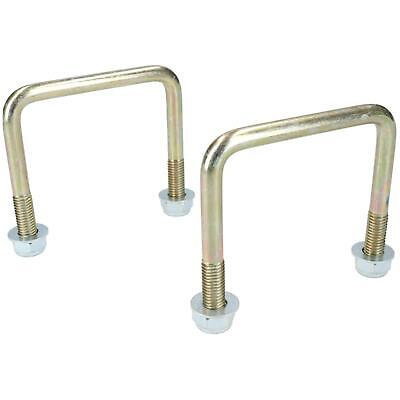 2 Pack M10 80mm x 75mm U-Bolt N-Bolt for Trailers with Nuts HIGH TENSILE
