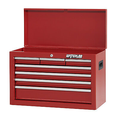 Waterloo SCH-267RD-F Shop Series 26-inch Wide 7-Drawer Friction Chest, Red