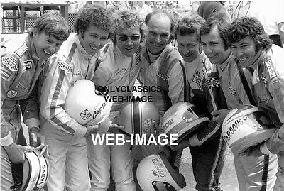 1974 ROOKIE CLASS INDY 500 SNEVA,PARSONS,JAN OPPERMAN,SIMPSON AUTO RACING PHOTO