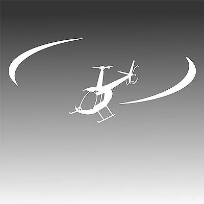 R44 Helicopter Decal In Flight R -44 Pilot Chopper Mechanic Sticker XL