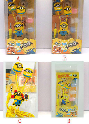 Hot Despicable Me The Minion Beedo Earphone Earbud Headset 3.5mm In-ear Yellow