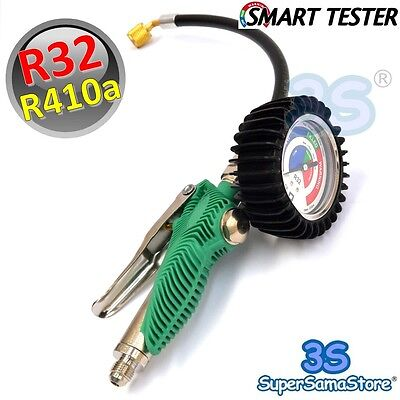 3S NEW SMART TESTER GAUGE FOR A/C SYSTEM WITH R410a R32 DIAGNOSTIC ADDING GAS