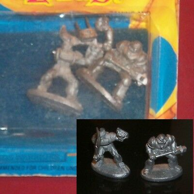 Grenadier #68 Chaos Warriors (2) 25mm Miniatures Chaotic Knights Fighters NOS