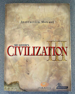 Sid Meier's  CIVILIZATION III Instruction Manual  1st Edition from 2001 for PC