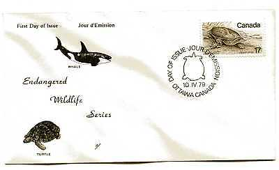 Canada 813 17c Soft Shell Turtle, NR-COVERS,  FDC, Endangered Wildlife Series