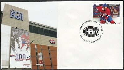 CANADA Sc #2671 (41) MONTREAL CANADIANS BELL CENTER ARENA on FIRST DAY COVER