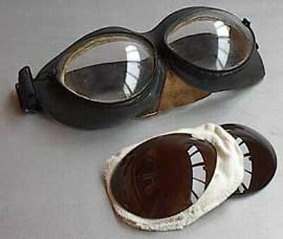 Spare PO-1M CLEAR LENSES (100%) for russian pilot goggles, NEW