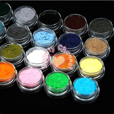 24 Color Velvet Flocking Powder For Acrylic UV Manicure Nail Art Polish Tips DIY