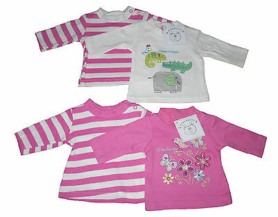 Baby Girls Long Sleeved Tops 2 Pack