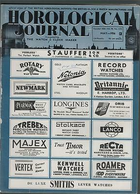 Horological Journal 1956. Rotherham Pigeon Timing Clock. St. Paul's Clock. b5.44