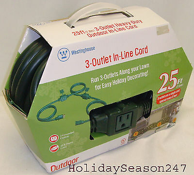 Westinghouse 28308 40-Feet Outdoor Single Outlet Power Cord Green Stanley timers