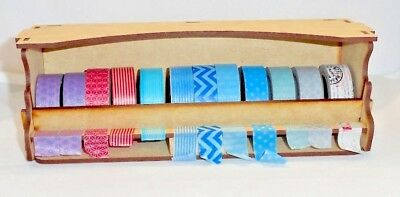 Washi Tape Holder - washi tape Tidy, wood stackable washi tape tidy
