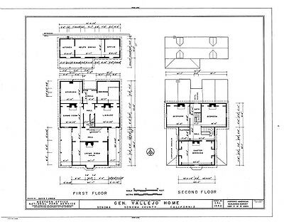 Historic Victorian style country house, porches, architectural drawings