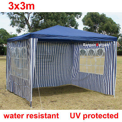 3x3m outdoor party market gazebo marquee canopy tent navy window
