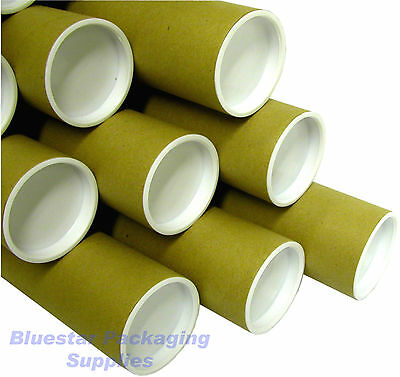 """Quality Postal Tubes A4 A3 A2 A1 A0 / 50mm (2"""") and 76mm (3"""") / With End Caps"""