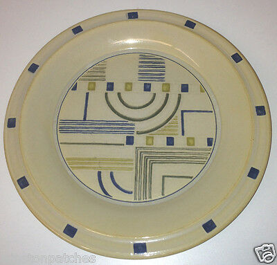Interiors Pts Prairie Golden Wheat Unity Salad Plate Geometric Center