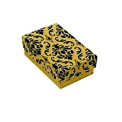 """100  Damask Cotton Filled Jewelry Gift Boxes 2 1/2""""x1 1/2"""""""
