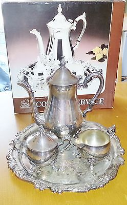 Vintage Antique SHERIDAN Taunton Silversmith Silver Plate Coffee Tea Set #18774