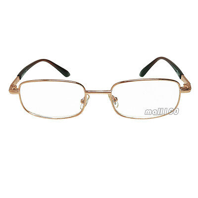 Reader Gold Metal Frame Portable Fashion Clear Reading Glasses +0.50 ~ +6.00
