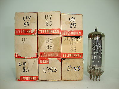 Uy85 Tube. Telefunken Brand Tube. Damaged Box.  Nos / Nib. Rc120.