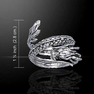Coiled Eastern Dragon Silver Ring TR1445