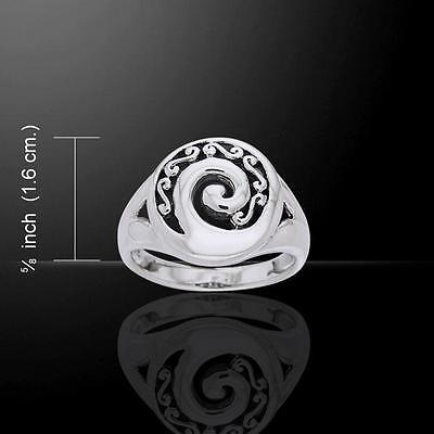 Celtic Spiral Ring TRI672 Size Selectable
