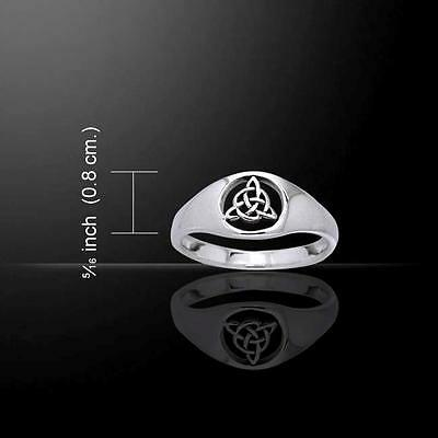 Celtic Trinity Knot Ring TRI877 Size Selectable