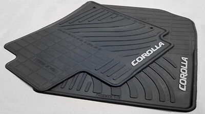 Toyota Corolla 2009-2013 Black Rubber All Weather Floor Mats Set of 4 - OEM NEW!