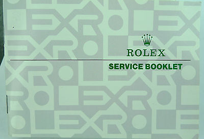 Rolex 1985 Usa Service Booklet - Cover Variations