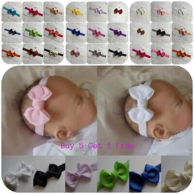 Baby Headband Hairband Soft Elastic Headband Bow Hair Accessories  4 sizes