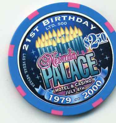 LAS VEGAS $2.50  NEVADA PALACE 21st BIRTHDAY CASINO LIMITED EDITION 500  CHIP