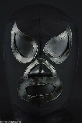BLACK SHADOW Adult Mask Mexican Wrestling Mask Lucha Libre Luchador Costume Wres