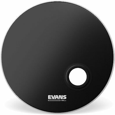 """Evans Emad Black Display Head For Bass Drum 22"""" BD22REMAD"""